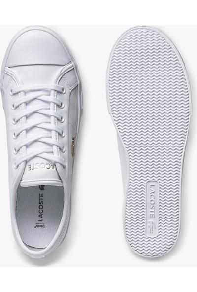 Lacoste Ziane Plus Grand 01201CFA Kadın Deri Beyaz - Gold Casual Ayakkabı 740CFA0005 216