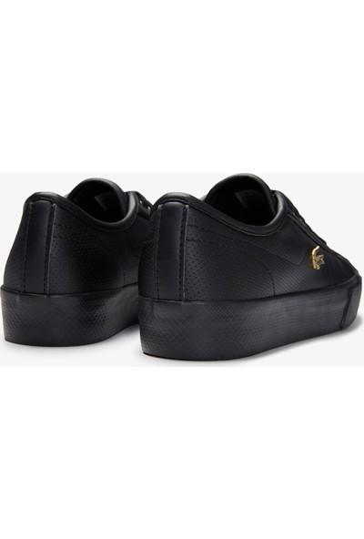 Lacoste Ziane Plus Grand 01201CFA Kadın Deri Siyah - Sarı Casual Ayakkabı 740CFA0005 1V7