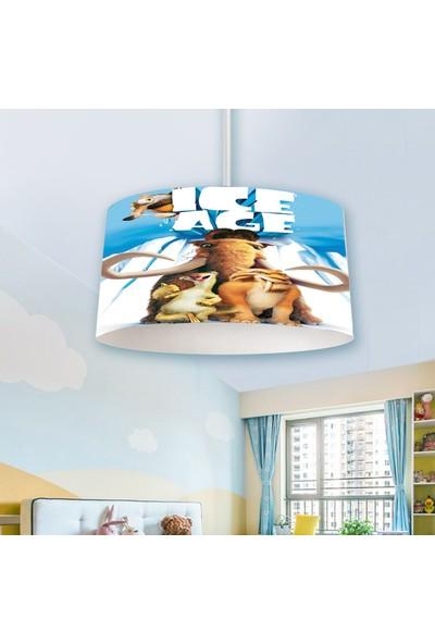 Herms Buz Devri Desenli Genç ve Çocuk Odası Avizesi
