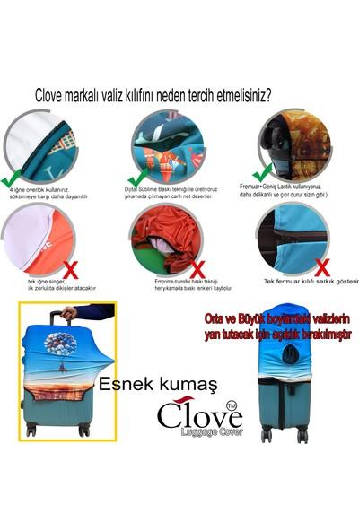 Clove Valiz kılıfı Modern Desen