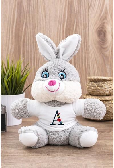 Hediye Dükkanı A Harfi Çiçek Tasarım Peluş Tavşan