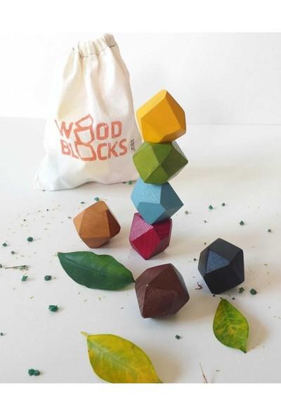 Natural Wood Blocks Waldorf ve Montessori Yaklaşımı ile Uyumlu Ahşap Denge Blokları