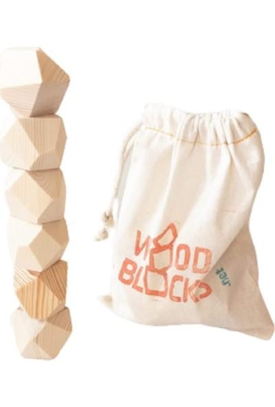 Natural Wood Blocks Waldorf Ahşap Denge Oyunu Masif Ahşap (Tumi Ishi)