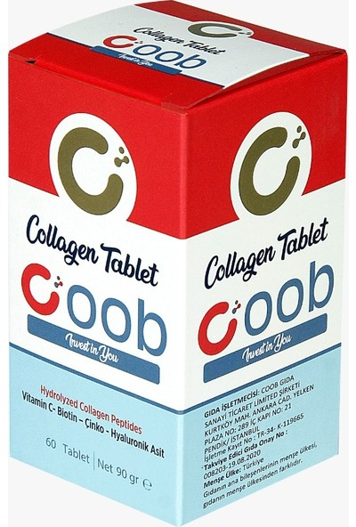 Collagen Coob Kolajen 60'lı Tablet