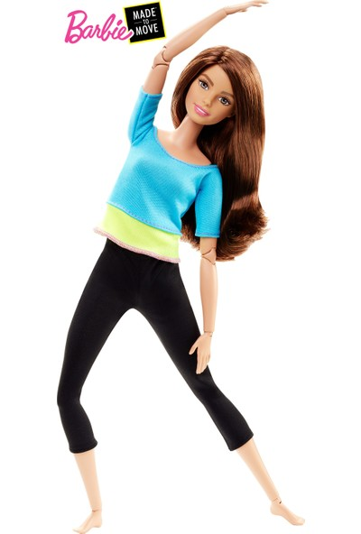 Barbie Sonsuz Hareket Bebeği, Kumral - Siyah Taytlı DJY08