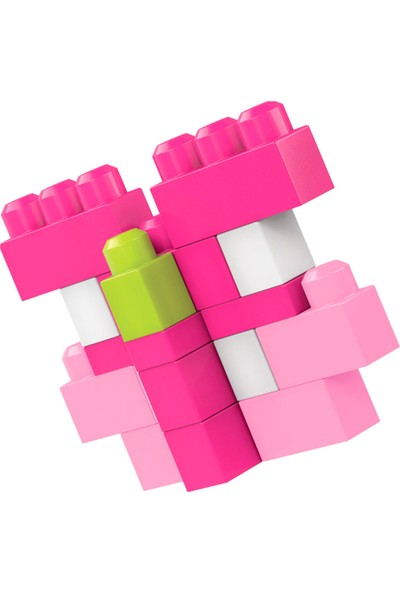 Mega Bloks 80'li Blok Torbaları (Pembe) Büyük Boyutlu Bloklar 1 Yaş+ DCH62