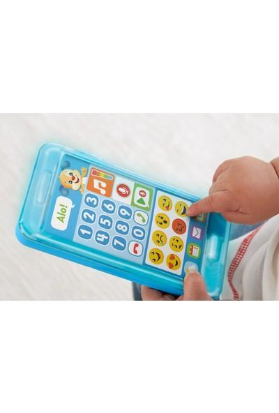 Fisher-Price Eğlen & Öğren İnteraktif Akıllı Telefon (Türkçe), Emojili, Sesli Mesaj Kaydeder, Hava Durumunu Sunar FPR25