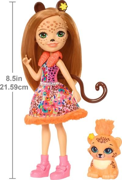 Enchantimals Popüler Karakter Bebekler - Çita Cherish Bebeği FJJ20