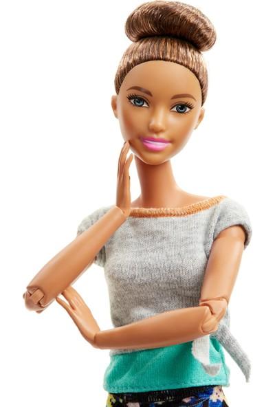 Barbie Sonsuz Hareket Bebekleri - Kahverengi Saçlı Topuz FTG82