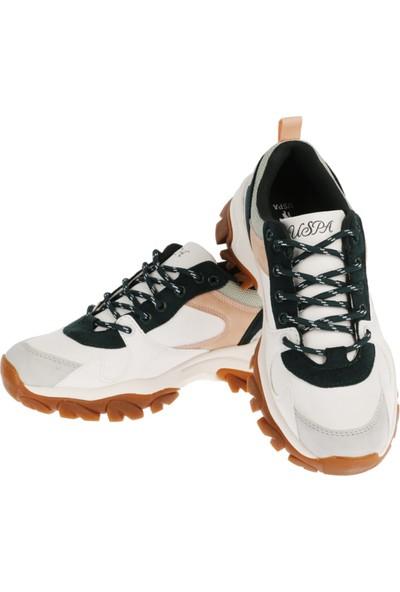 U.s. Polo Assn. Kadın Kışlık Ayakkabı Tracky Beyaz-Yeşil 20W04TRACKY