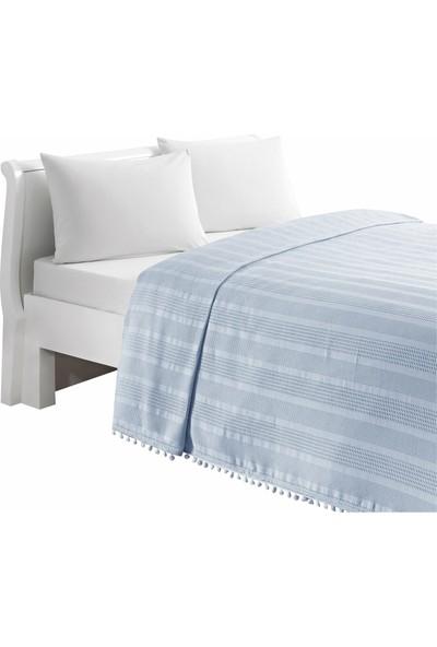Linens Olivia Pike Çift Kişilik Mavi