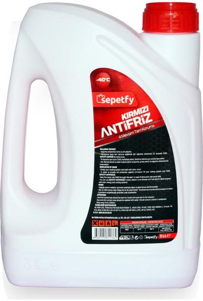 Sepetfy -40°c Kırmızı Organik Antifiriz 3 lt