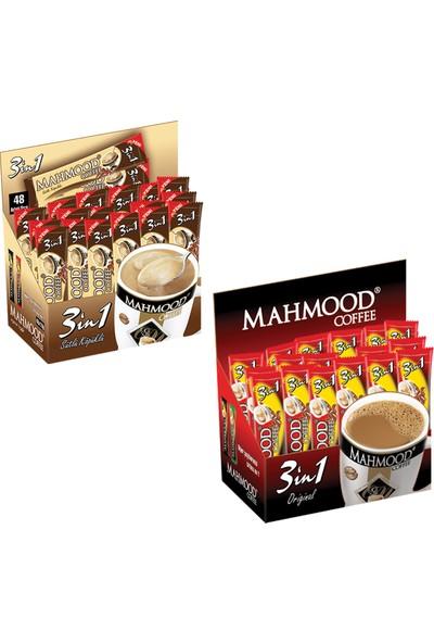 Mahmood Coffee 3'ü 1 arada Sütlü Köpüklü ve 3'ü 1 arada 48 x 2