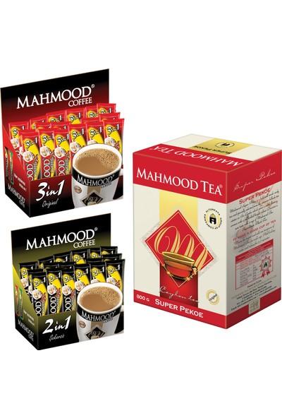 Mahmood Coffee 3'ü 1 arada ve 2'si 1 arada 48 x 2 ve Mahmood Tea Super Pekoe Seylan Çayı 800 gr