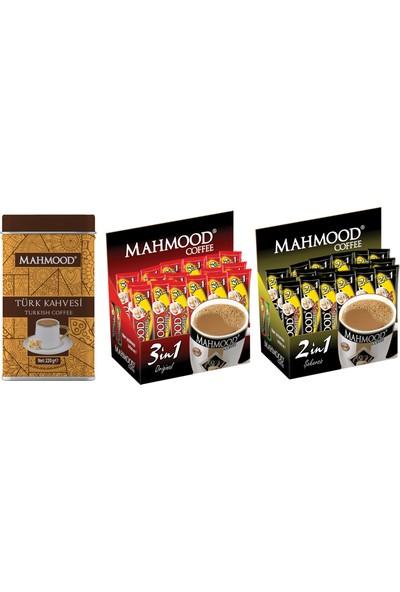 Mahmood Coffee 3'ü 1 arada ve 2'si 1 arada 48 x 2 ve Türk Kahvesi 220 gr