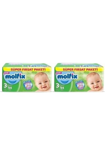 Molfix Bebek Bezi Comfort Fix Ultra Avantaj Paketi 3 Beden 188 Adet