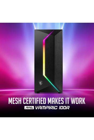 MSI MAG Vampiric 100R Temperli Cam 160 mm Fan Micro ATX Bilgisayar Kasa