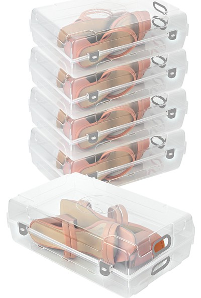 Box&box 5 Adet Şeffaf Kadın Ayakkabı Saklama Kutusu