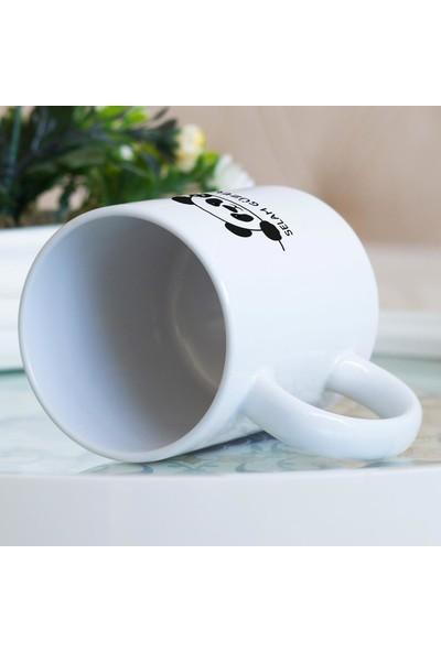 Hediyehanem Selam Güzellik Tatlı Panda Porselen Kupa Bardak