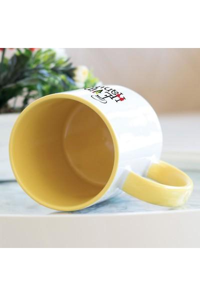 Hediyehanem Evin Hanımı Sarı Kupa Bardak