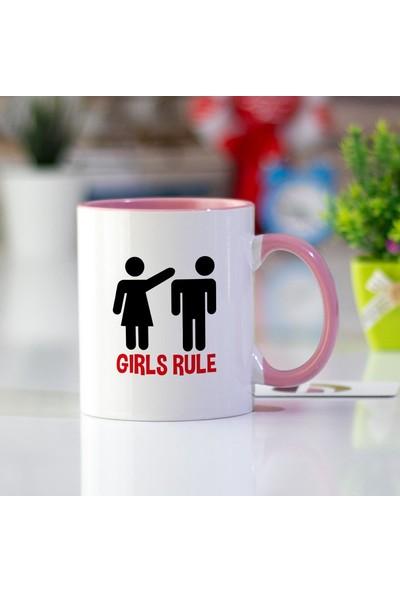 Hediyehanem Girls Rule Pembe Kupa Bardak