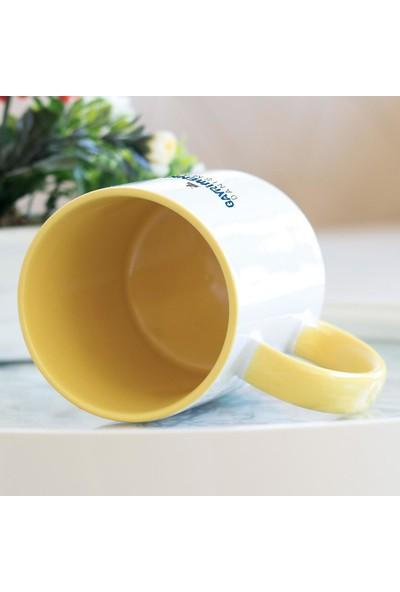 Hediyehanem Gayrimenkul Danışmanı Sarı Kupa Bardak