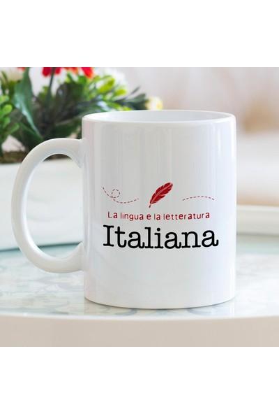Hediyehanem İtalyan Dili ve Edebiyatı Porselen Kupa Bardak