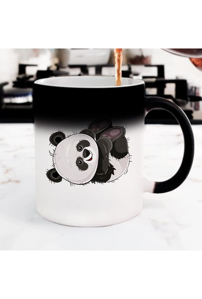Hediyehanem Sevimli Panda Sihirli Kupa Bardak