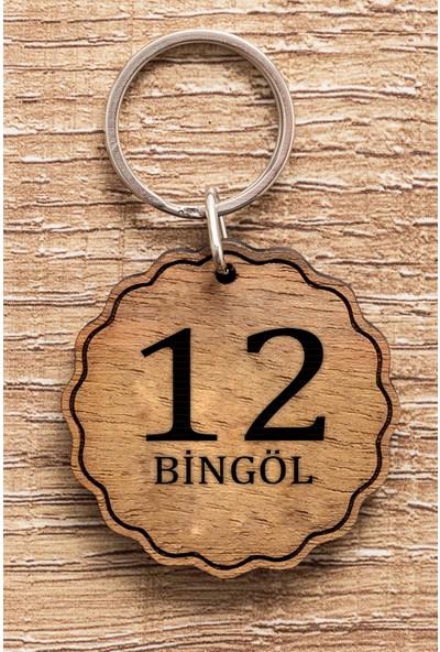 Hediye Dükkanı 12 Bingöl Ahşap Anahtarlık