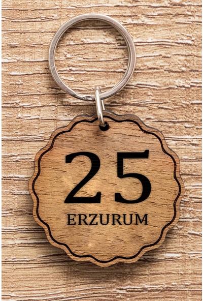 Hediye Dükkanı 25 Erzurum Ahşap Anahtarlık