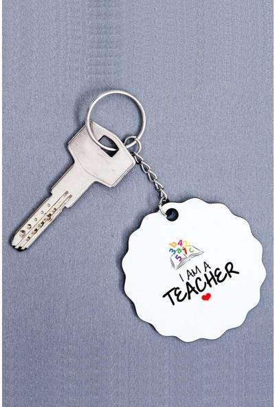 Hediye Dükkanı Öğretmen Ahşap Anahtarlık