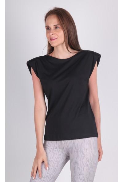 Meliana Vatkalı Bluz Siyah S