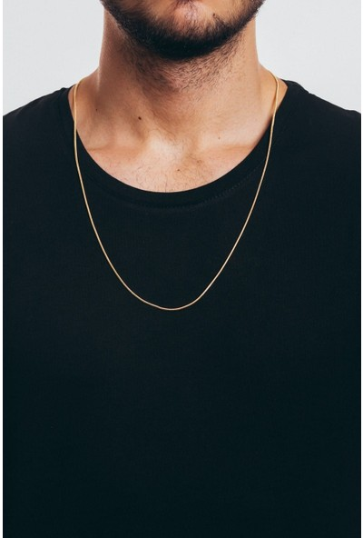 X-lady Accessories Erkek Zincir Gold Çelik Kolye