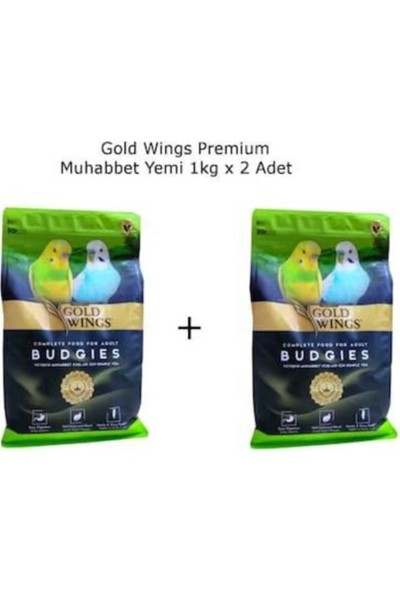 Gold Wings Muhabbet Kuşu Yemi 1kg x 2 Adet