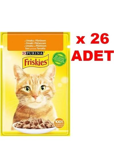 Friskies 85 gr Tavuklu Kedi Yaş Mama 26 Adet