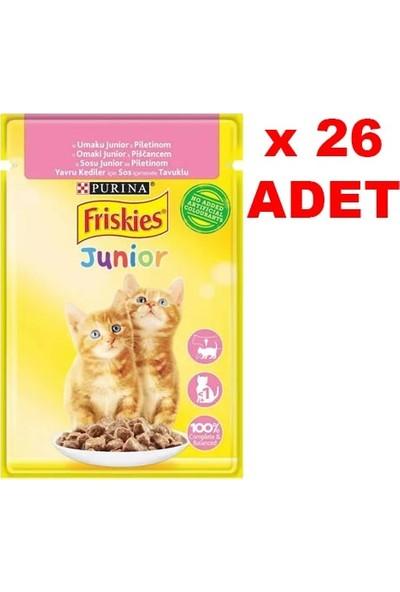 Friskies 85 gr Junior Tavuklu Yavru Kedi Yaş Maması 26