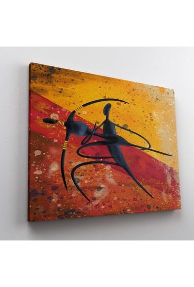 Jasmin Afrika Çift Dans Kanvas Tablo