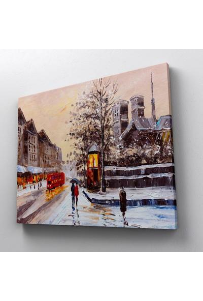 Jasmin Yağlıboya Londra Sokak Görünümü Kanvas Tablo