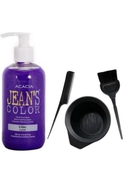 Acacia Jeans Color Saç Boyası Leylak 250ml ve Saç Boya Kabı Seti