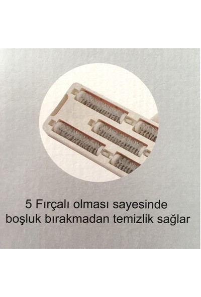 Vip Ahmet Vip 5 Fırçalı Sopalı Gırgır Süpürge 120 cm Gırgır