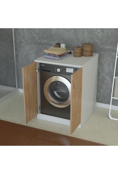 İndirimse Home Bambu Cube Çamaşır Makinesi Dolabı