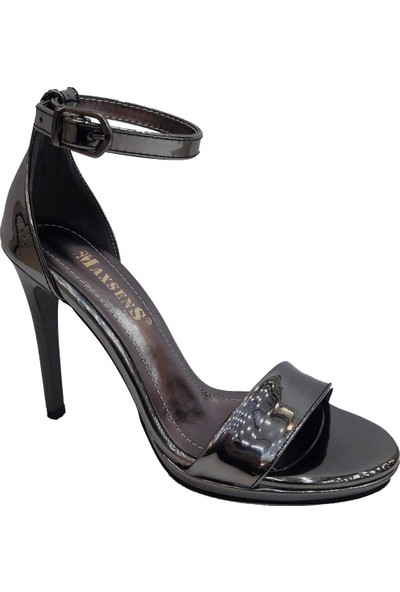 Gizem Maxsens 802 Rugan Sivri Topuklu Kadın Sandalet
