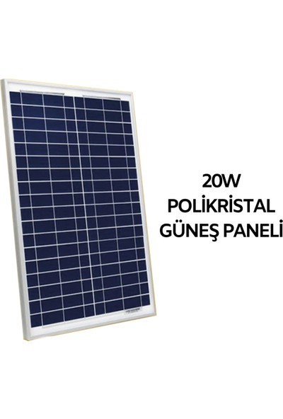Pnr 20 W Polikristal Güneş Paneli