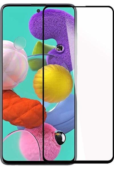 Telbor Samsung Galaxy A71 2020 Tam Kaplayan Ultra İnce Ekran Koruyucu - Siyah