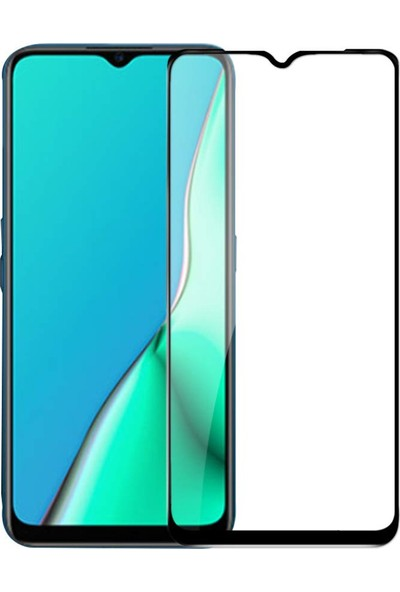 Telbor Oppo A9 2020 Tam Kaplayan Ultra İnce Ekran Koruyucu - Siyah