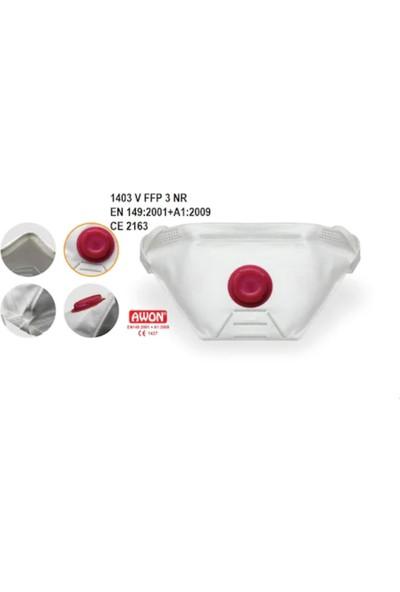 Awon 1403V Ventilli Ffp3 N95/99 Filtreli Solunum Koruyucu