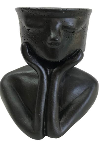 Bitki Tasarımı Thınk Model Saksı Siyah