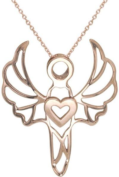 Kuyumcu Kuyumculuk Sevgi Meleği Gümüş Kolye