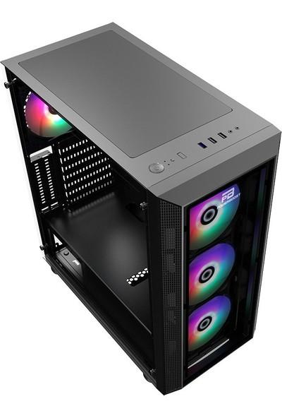 Power Boost VK-P3380B 550w 80+ USB3.0 ARGB Fan Tempered Bilgisayar Kasası
