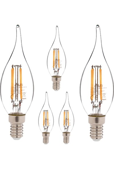 Alpi 4w E14 Kıvrık 3000K Gün Işığı LED Ampul E14-KG 5'li